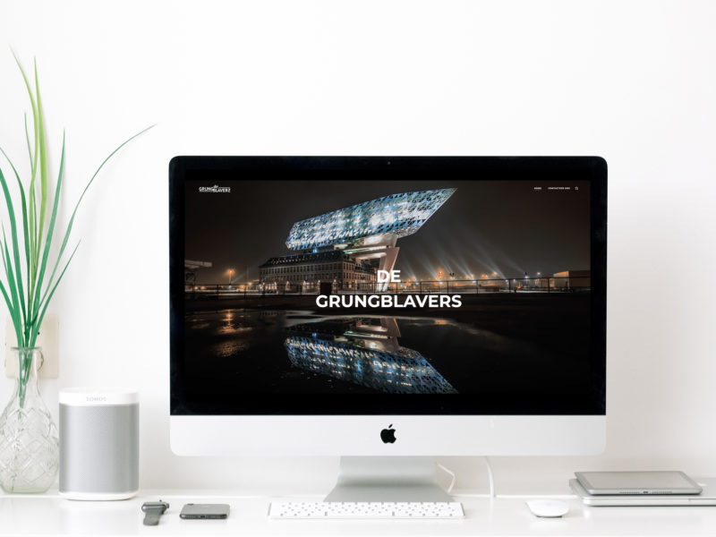 De Grungblavers – Webdesign